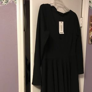 Long Sleeve Black Dress!
